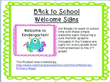 Monster Welcome Signs