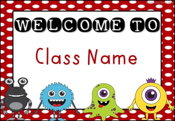 Monster Welcome Signs {EDITABLE}
