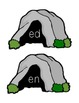 Monster Word Family Sorting Activity (-ed, -en, -et, -ew endings)