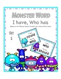 Monster Word I Have, Who Has Set 1 - Phonics Dance Monster Words