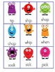 Monster Word Towers Game - CVC Words