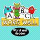 Monster Theme Classroom Decor Word Wall ABC Flashcards