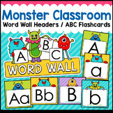Monster Theme Classroom Decor Word Wall ABC Flashcards
