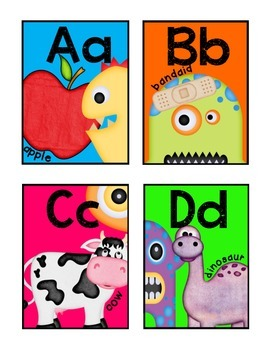 Monster Word Wall Headers