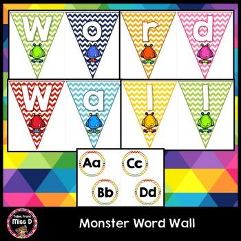 Monster Word Wall Headers