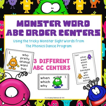 Monster Words ABC Center - The Phonics Dance