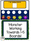 Monster Working Towards 1-5 Visual Reinforcement Board
