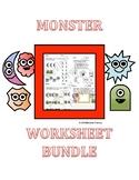 Monster Worksheet Bundle