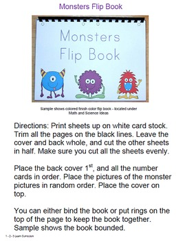 Monster Worksheets and Crafts