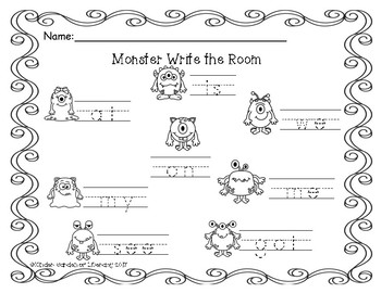 Write the Room Monsters