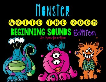 Monster Write the Room - Beginning Sounds Edition