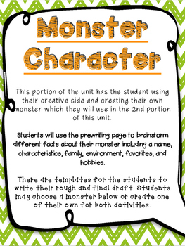 characteristics of a monster