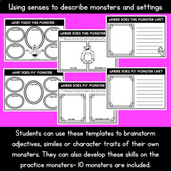 Monster Writing Activities