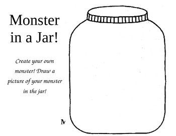 create a monster writing activity for second