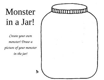 Monster Writing in a Jar {FREEBIE}