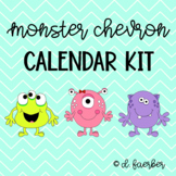 Monster and Chevron Calendar and Weather Set