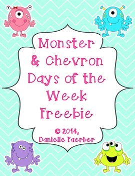 Monster and Chevron Days of the Week