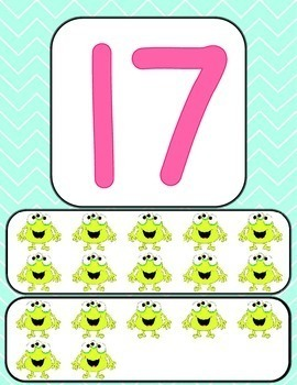 Monster and Chevron Number Posters 0-20