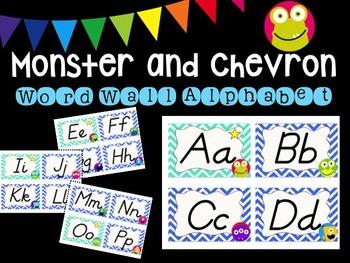 Monster and Chevron Word Wall Alphabet