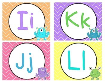 Monster and Chevron Word Wall Headers