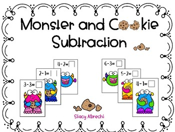 Monster and Cookie Subtraction Mats