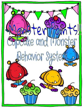 Monster and Cupcake Behavior Chart Posters- Classroom Management