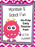 Monster and Robot Fun 2nd & 3rd Grade Early Finisher Pack