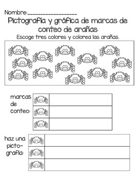 Monster and Spider Tally and Graph--English and Spanish