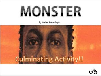 Monster by Walter Dean Myers - Culminating Activity Scrapbook Portfolio