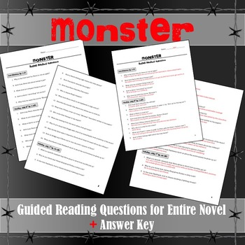 Monster (Walter Dean Myers) Guided Reading Questions