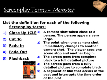 Monster by Walter Dean Myers - Introduction Power Point