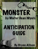 Monster by Walter Dean Myers Pre-Reading Discussion Activity: Anticipation Guide