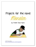 Projects for the novel Monster by Walter Dean Myers