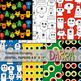 Monster clip art Bundle (colors, black and white, digital papers)