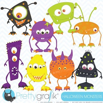 Monster clipart commercial use, vector graphics, digital clip art - CL392