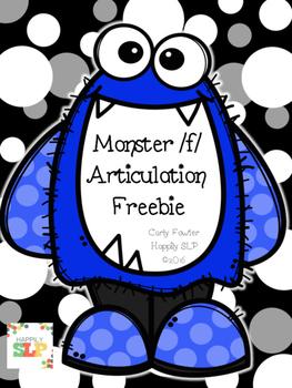 Monster /f/ Articulation Freebie