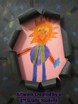 Monster in the Dark 3-D Paper Art Project