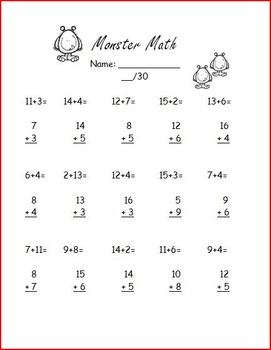 Monster math packet