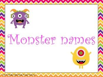 Monster names