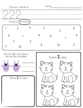 Monster numbers 1-10