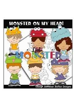 Monster on my Head Clipart Collection