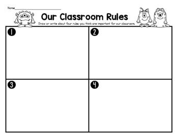 BTS fun! Monster or A+ Student? Classroom Behavior Sort/School Rules
