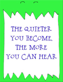 Monster quiet in the classroom reminder