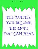 Monster quiet in the classroom reminder