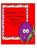 Monster-rific Letter Naming Fluency Progress Monitoring Packet