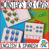 Monster's Clip cards. Numbers to 10. PreK, K and Sped. Hands-on Math.