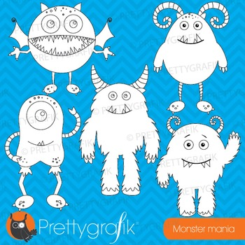 Monster stamps commercial use, vector graphics, images - DS546