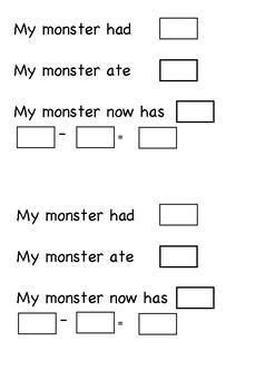Monster subtraction craft