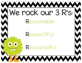 Monster theme-We Rock our Three R's