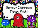 Monster theme classroom decor pack